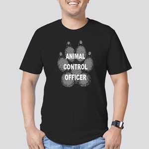 Animal Control Officer Men's Fitted T-Shirt (dark)