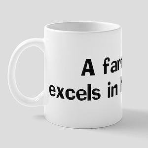A farmer excels in Mug