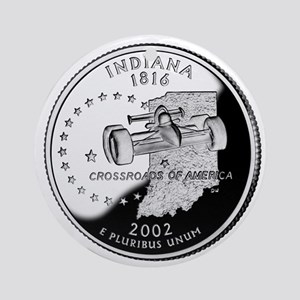Indiana Quarter Ornament (Round)