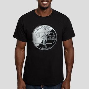 Pennsylvania Quarter Men's Fitted T-Shirt (dark)
