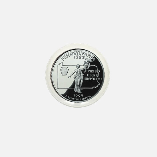 Pennsylvania Quarter Mini Button