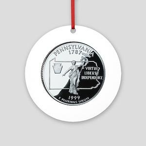 Pennsylvania Quarter Ornament (Round)