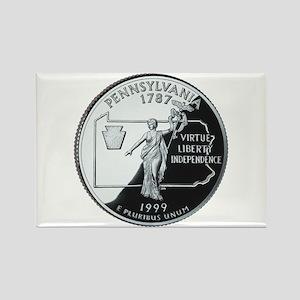 Pennsylvania Quarter Rectangle Magnet