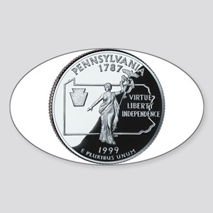 Pennsylvania Quarter Oval Sticker