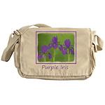 Purple Iris Messenger Bag