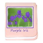 Purple Iris baby blanket