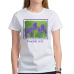 Purple Iris Women's Classic White T-Shirt