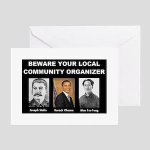 Beware of community organizer Greeting Card