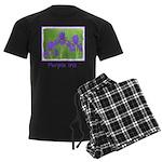 Purple Iris Men's Dark Pajamas