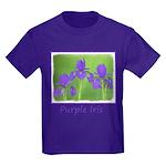 Purple Iris Kids Dark T-Shirt