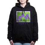 Purple Iris Women's Hooded Sweatshirt