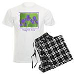 Purple Iris Men's Light Pajamas