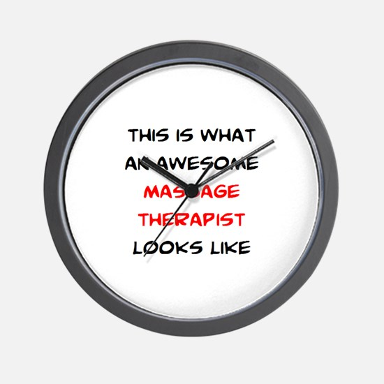 awesome massage therapist Wall Clock