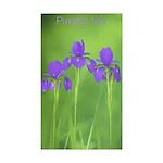 Purple Iris Sticker (Rectangle 50 pk)