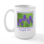 Purple Iris 15 oz Ceramic Large Mug