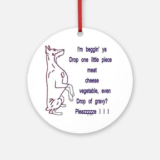 Food Pleazzzze Ornament (Round)