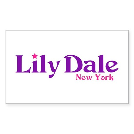 Lily Dale New York Sticker (Rectangle)