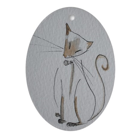 Simply Siamese Oval Ornament