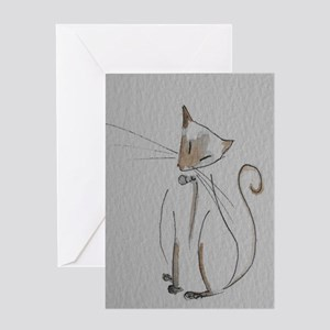 Simply Siamese Greeting Card