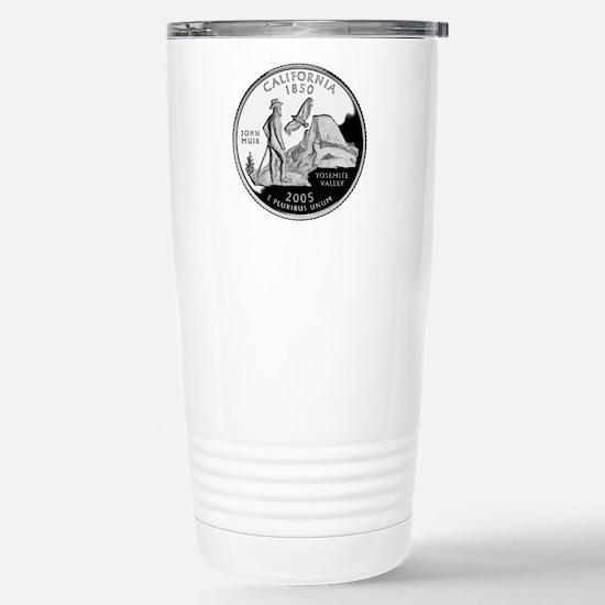 California Quarter Stainless Steel Travel Mug