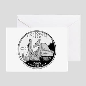 California Quarter Greeting Card