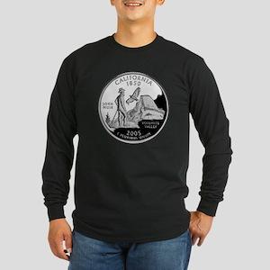 California Quarter Long Sleeve Dark T-Shirt