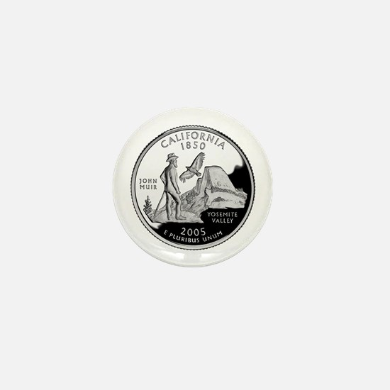 California Quarter Mini Button