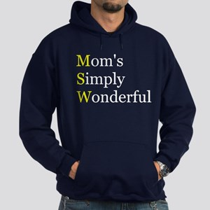 Mom's Simply Wonderful Hoodie (dark)