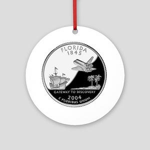 Florida Quarter Ornament (Round)