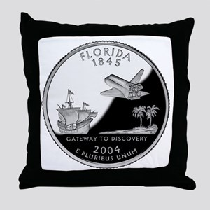 Florida Quarter Throw Pillow
