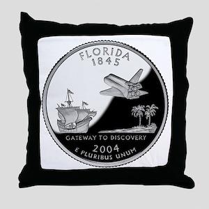 Florida Quarter Throw Pillow
