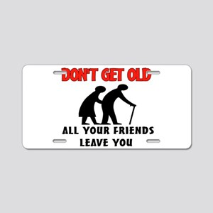 OLD PEOPLE Aluminum License Plate