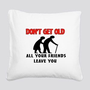 OLD PEOPLE Square Canvas Pillow