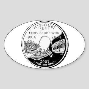 Missouri Quarter Oval Sticker