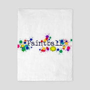 Paintball Paint Splatter Twin Duvet Cover