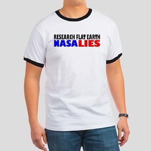 Research Flat Earth NASA LIES T-Shirt