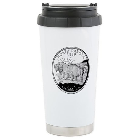 North Dakota Quarter Stainless Steel Travel Mug