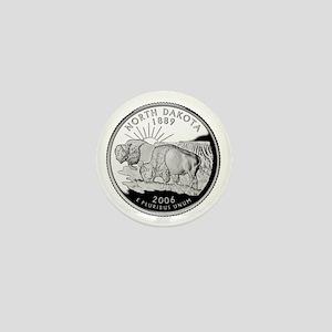 North Dakota Quarter Mini Button