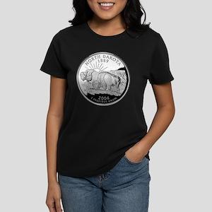 North Dakota Quarter Women's Dark T-Shirt
