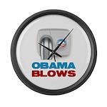 Obama Blows Large Wall Clock