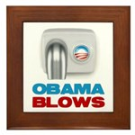 Obama Blows Framed Tile