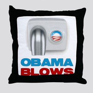 Obama Blows Throw Pillow