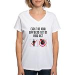 Cheat on BF Women's V-Neck T-Shirt