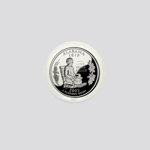 Alabama Quarter Mini Button