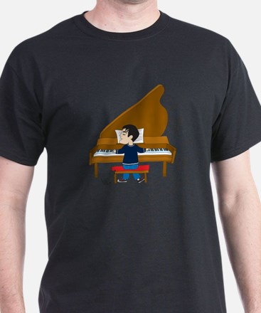 Piano Player and Dog T-Shirt