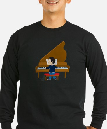 Piano Player and Dog T