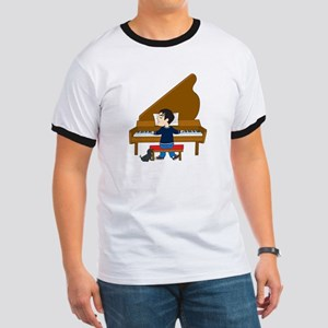 Piano Player and Dog Ringer T