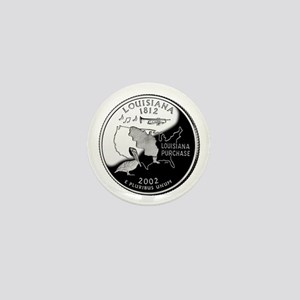 Louisiana Quarter Mini Button