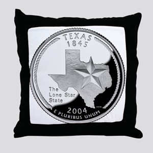Texas Quarter Throw Pillow