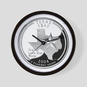 Texas Quarter Wall Clock